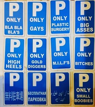 Good morning my friends! Arent these parking signs just hilarious?hellip