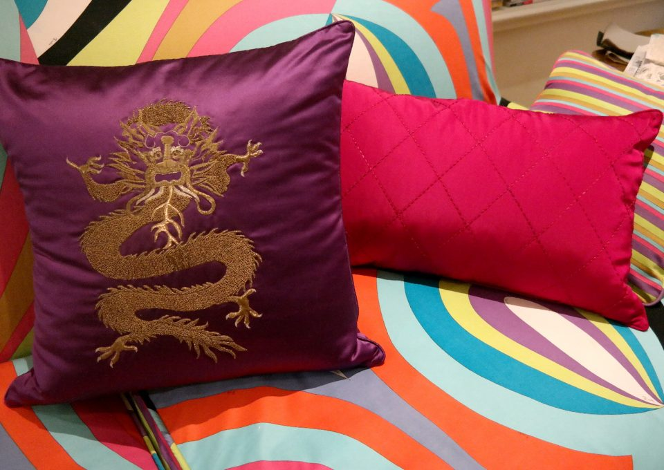Luxury cushions in abundance