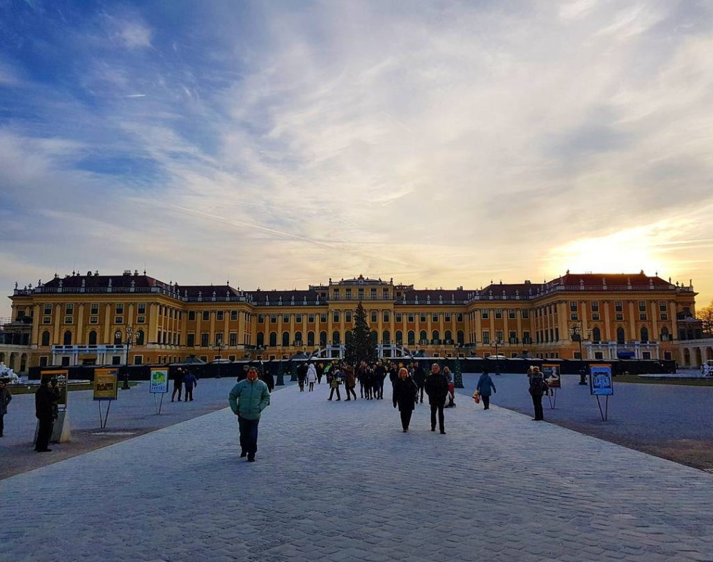 Castle Schnbrunn in Vienna the home of Austrias former Emperorhellip