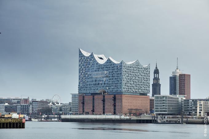 The new Elbphilharmonie in the HafenCity Hamburg