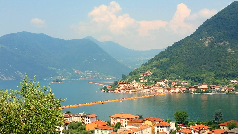 The Floating Piers on Lake Iseo