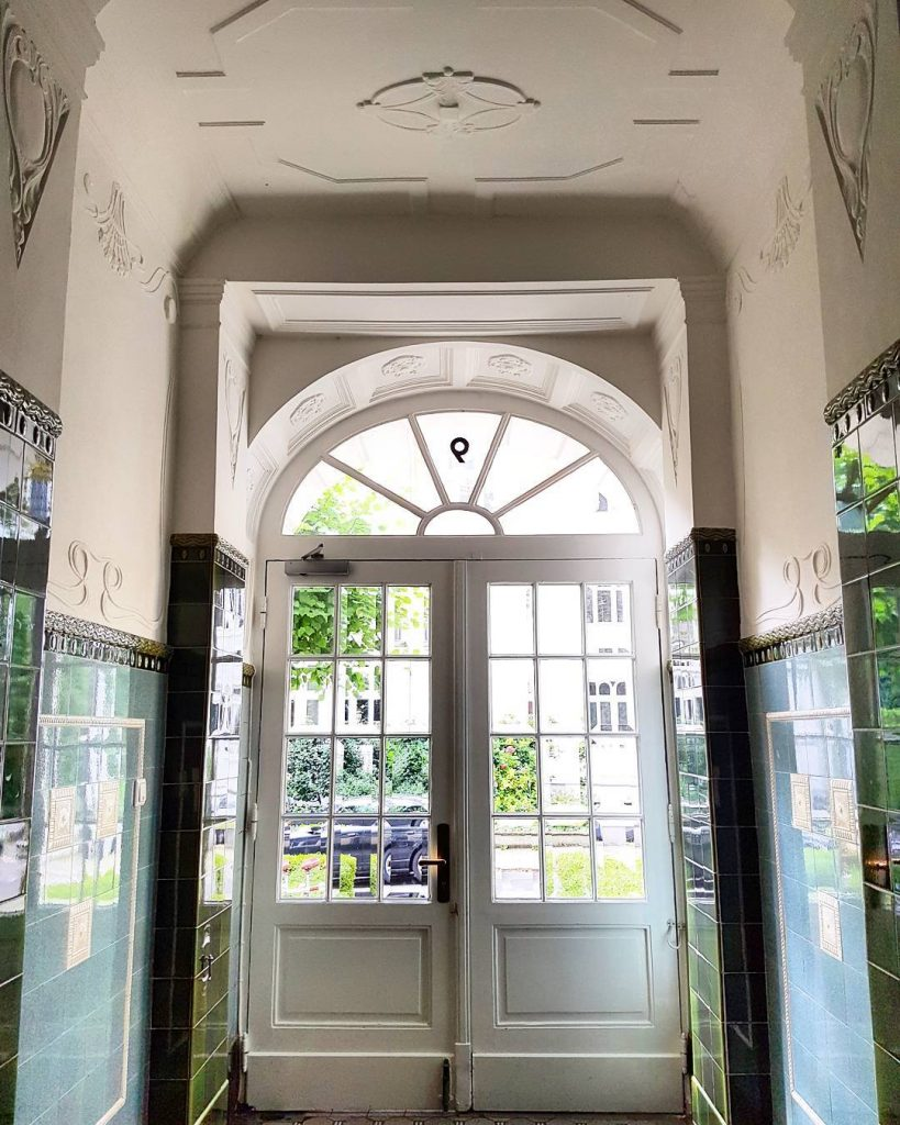 My door in Hamburg framed by beautiful art nouveau tileshellip