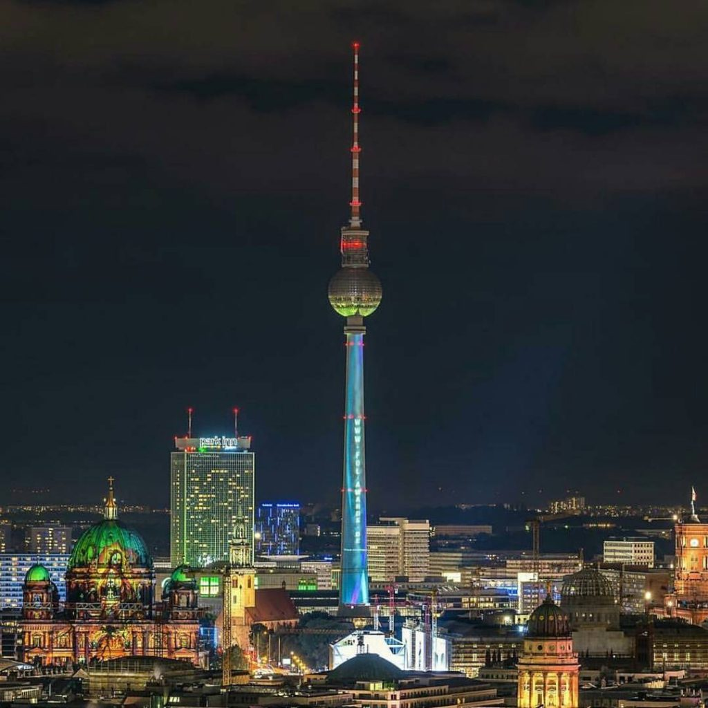 Thats why I love my city! Berlin and the festivaloflightshellip