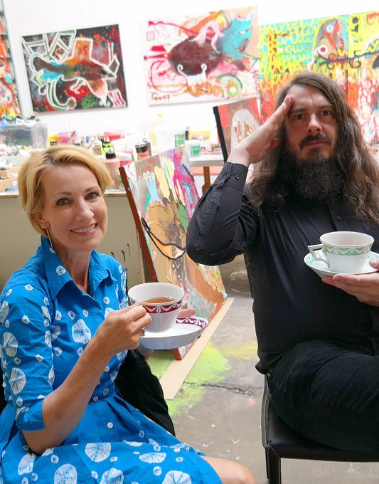 "Jonathan Meese: ""I neither drink my tea in terms of left nor right politics."""