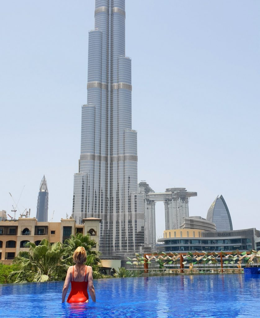 Dubai Address Hotel Downtown and Burj Khalifa