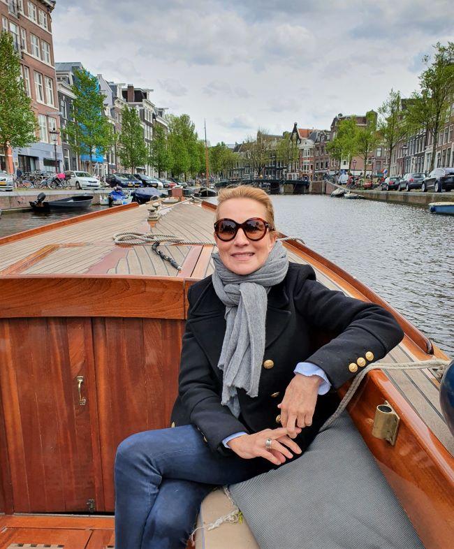 MyStylery in Amsterdam auf Bootsfahrt