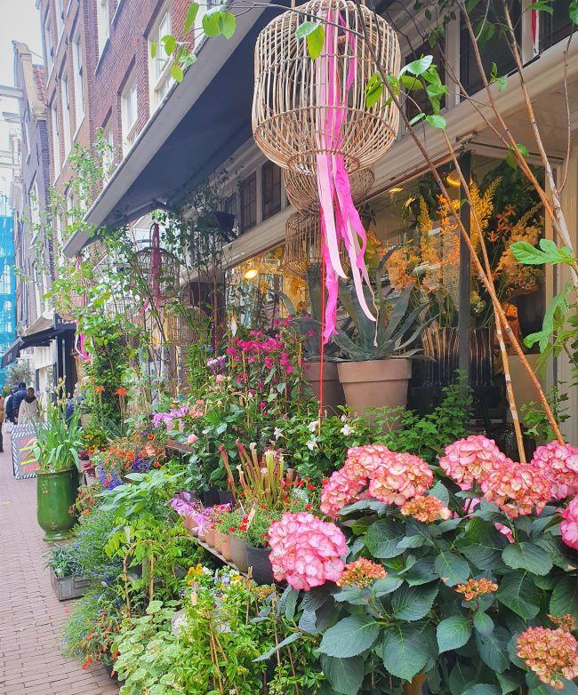 Blumengeschäft in Amsterdams City